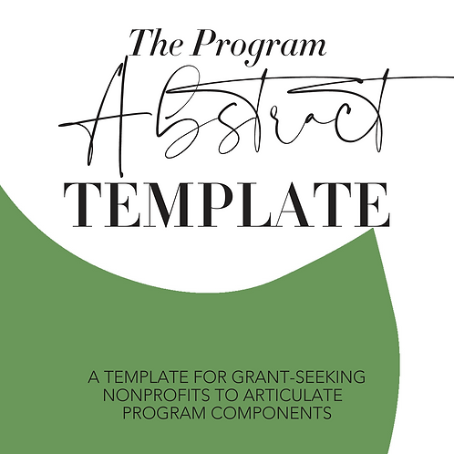 The Program Abstract Template