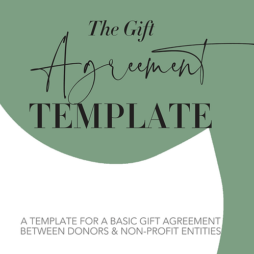 Gift Agreement Template