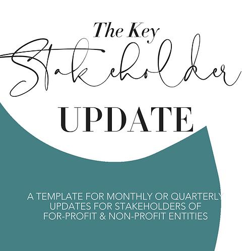 Investor Update Template