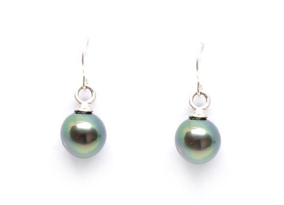 E14 Shepards Hooks Black Pearl Earrings