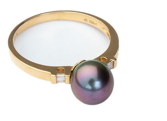 R3 Baguette Black Diamond Ring