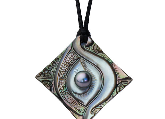 P51 Mother of Pearl Black Pearl Pendant