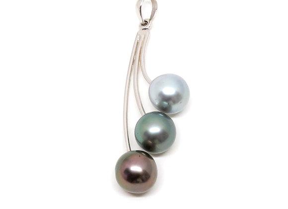 P28 Tri Diagonal Black Pearl Pendant