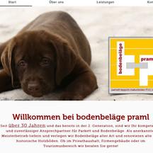 Firmenlogo und neue Website erstellt