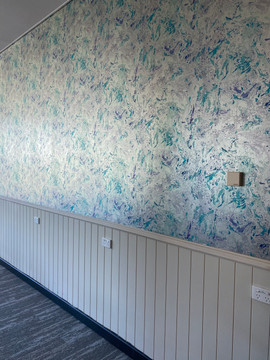 After photo: Feature wall