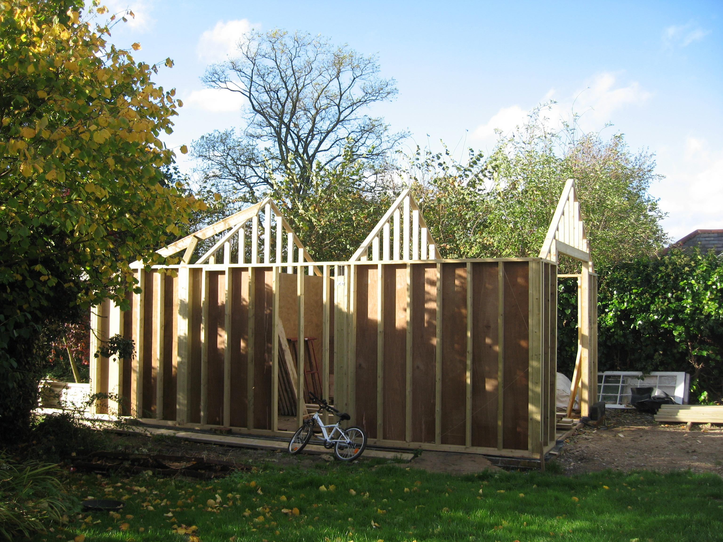 Timber frame garage