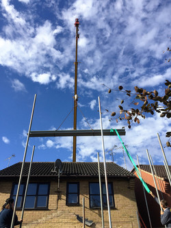 Steelwork craned into position
