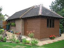 New build garage and garden store