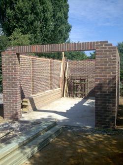 Brick built garage