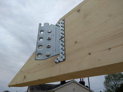 Simpson concealed beam hanger