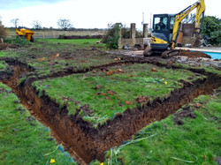 Foundations dug