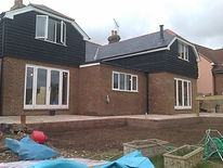 Large rear extension containing kitchen and lounge and family room