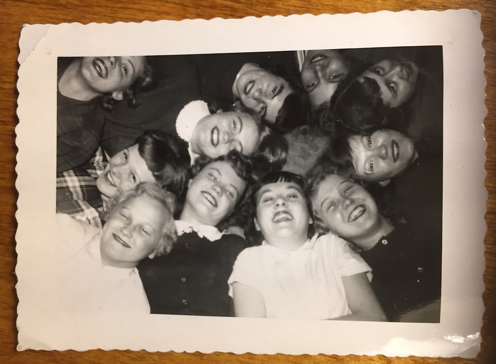 Marjorie and friends at church camp