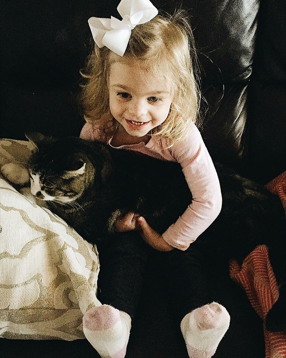"""Emma and her cat """"Boo Boo"""""""