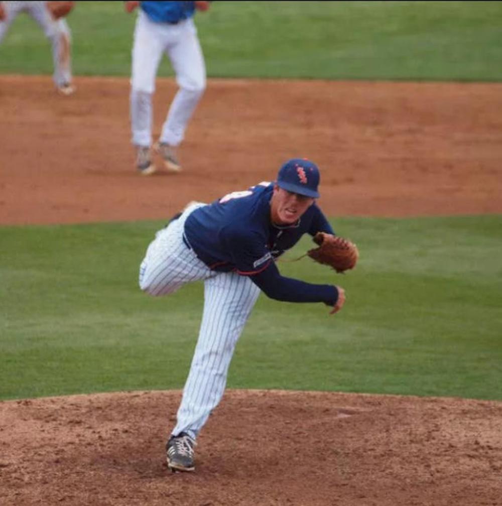 Ryan Talley pitching for UTSA