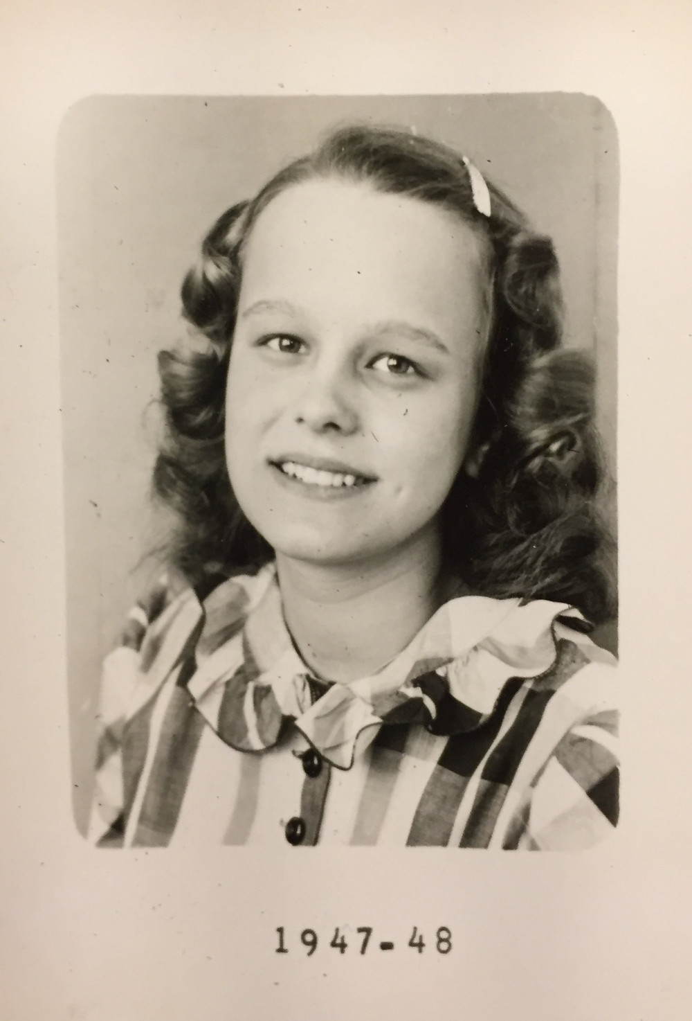Marjorie in 1947- 48 . . .