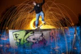 Skateboard Light Painting
