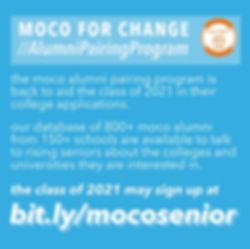 MOCO Students for Change Alumni Pairing