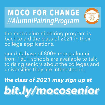 MOCO Students for Change Alumni Pairing