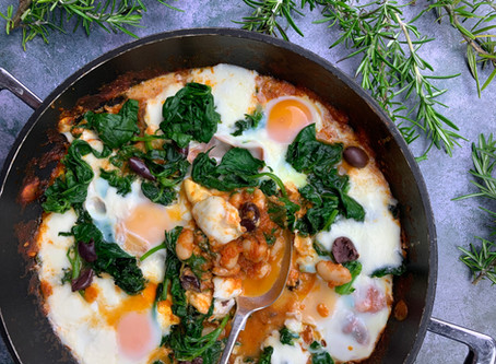 Austen baked eggs by Philippa Davis International Private Chef and Food Writer