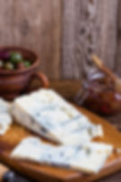 Blue Gorganzola cheese served with fresh
