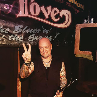 Drummer Chris Moore, subbing for Jack on Saturday, August 31, 2019.
