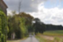 De prachtig weg langs het huis