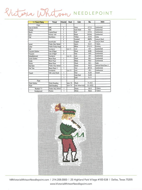 Thread and Stitch Suggestions-11 Pipers Piping