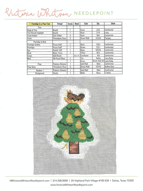 Thread and Stitch Suggestions-1 Partridge in a Pear Tree