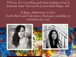 Upcoming Poetry Reading at Autumn Sage Winery in Arizona