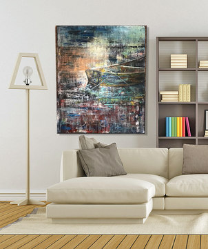 "'Stillness'  48"" x 60"" on a gallery frame $1,450 available for viewing in my Home gallery"