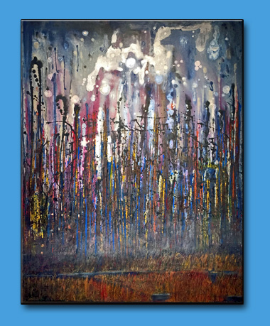 "Starry Starry Night II  48"" x 60"" on gallery frame  $1,400"