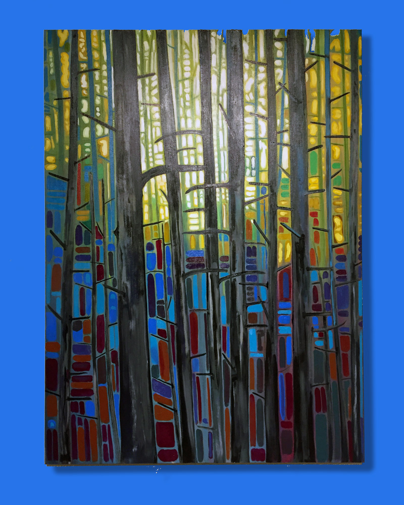 "In the Woods - 36"" x 48"" $950.00 (no tax)"