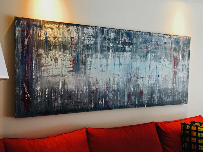"'Distressed' 36"" x 84""  SOLD"