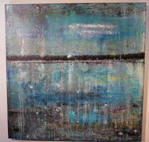 Midnight Ice in Tobermory 48 x 48 on gallery canvas  $750
