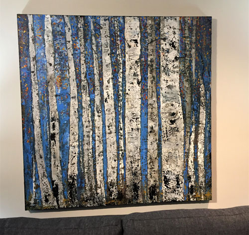 "'Can't See the Forest for the Trees'  48"" x 48""  $600.00"