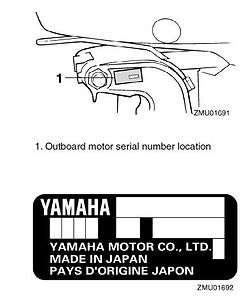Yamaha outboard serial number location