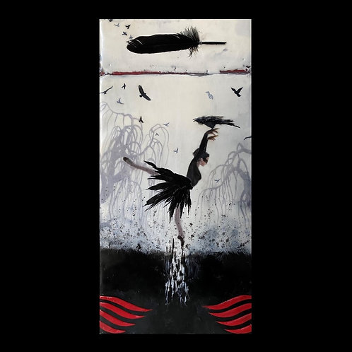 "The Morrigan Goddess - 11"" X 17"" Fine Art Print"