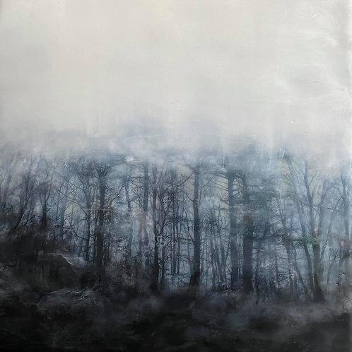 "Beyond the Trees - 8"" x 8"", Original Art"