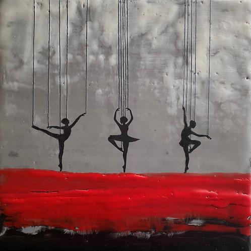 """Dancing Queens - 8"""" x 8"""", Original Art"""