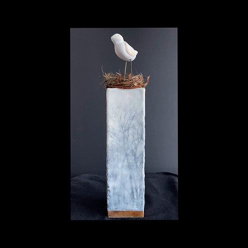 """Bird's Eye View - 4"""" x 4"""" x 17"""", Original Art"""