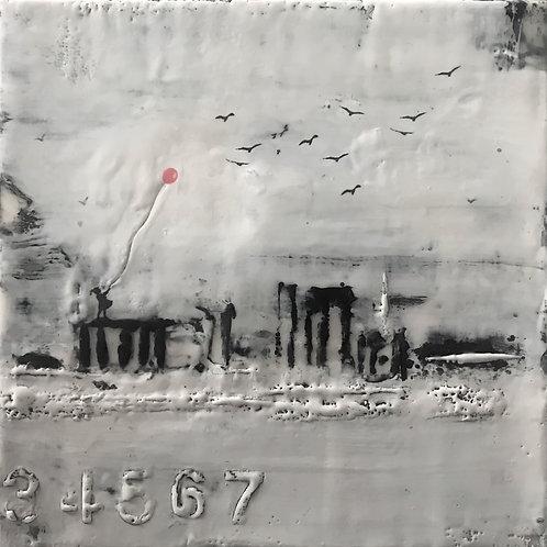 "Hope Among Ruins - 8"" x 8"", Original Art"