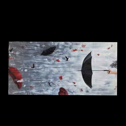 "Tumblebrellas - 6"" x 12"", Original Art"