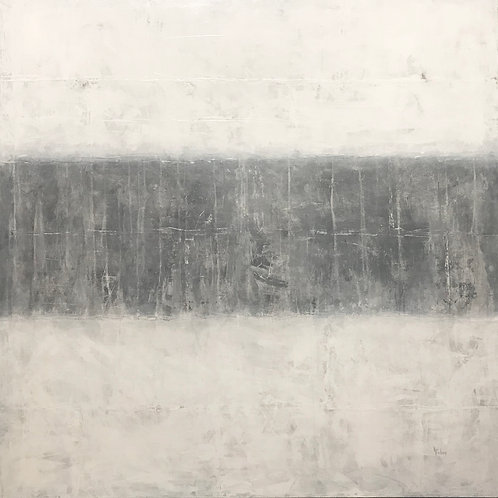 "Cement Timeline - 40"" x 40"", Original Art"