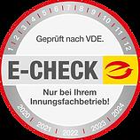 E-CHECK Plakette