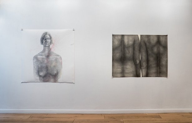 """Diana Quinby """" Nouveaux dessins : Couples, Autoportraits, etc."""""""