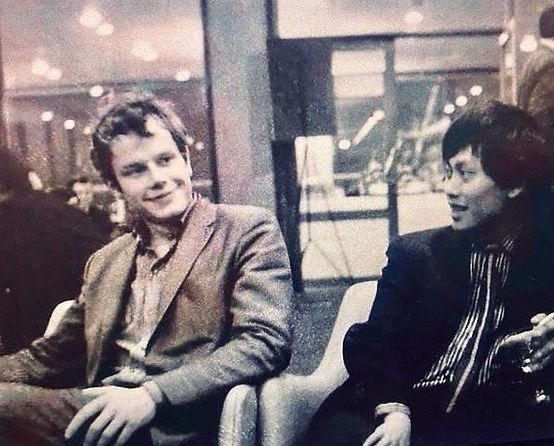 Guy Brett & David Medalla, Amsterdam, 1966 © Alejandra Brett.jpg