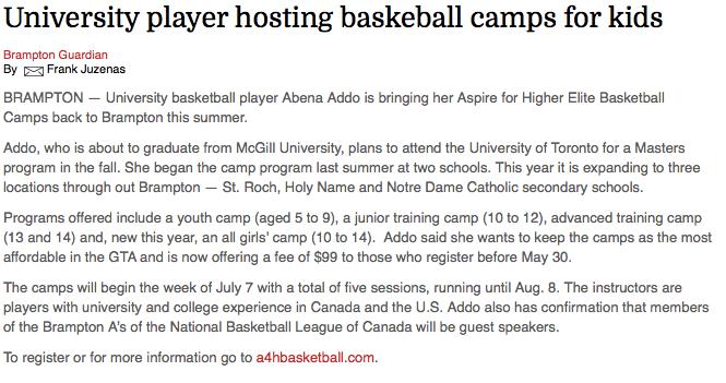 University player hosting basketball camps for kids