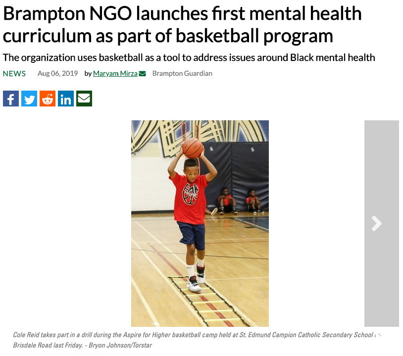 Brampton NGO launches first mental health curriculum as part of basketball program