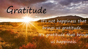 From Gratitude, All Else Grows